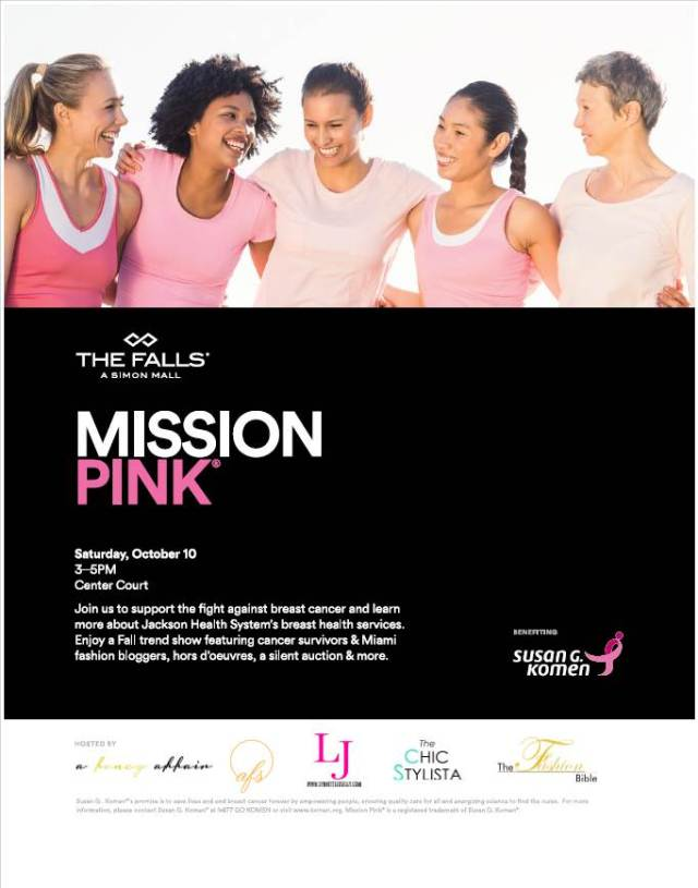 Mission Pink sign with blogger logos
