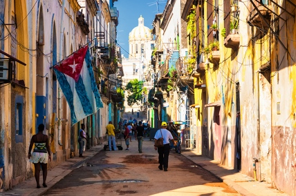 Typical street in Old Havana