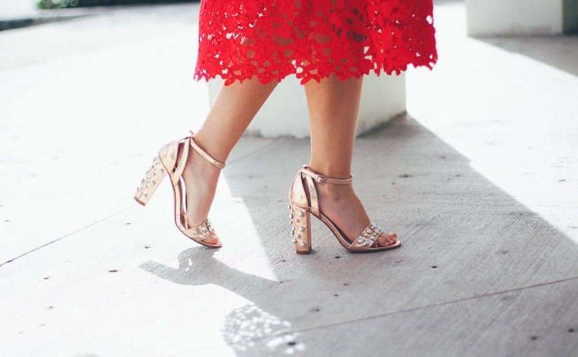 Valentine's Day Style: Red Dress & PearlHeels